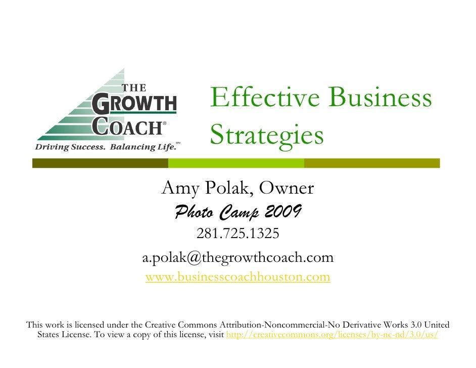 Effective Business                                               Strategies                                   Amy Polak, O...