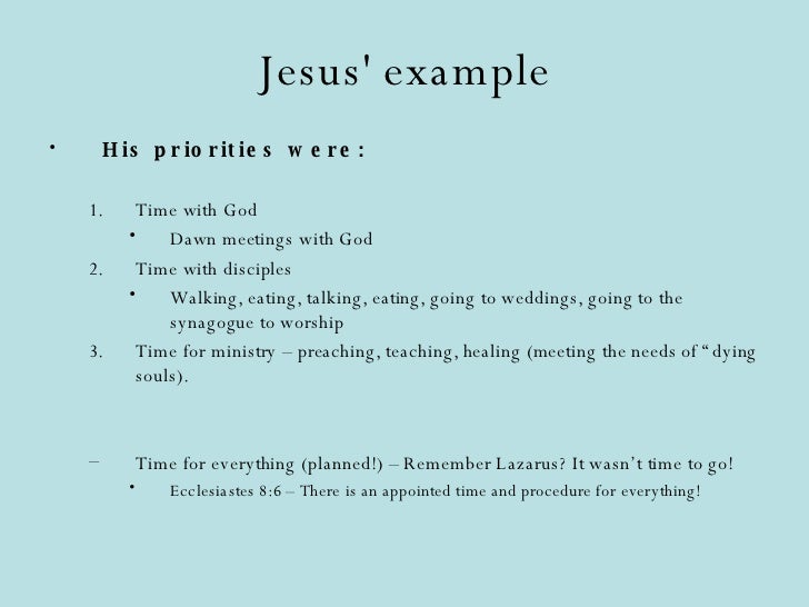 Effective Christian Time Management