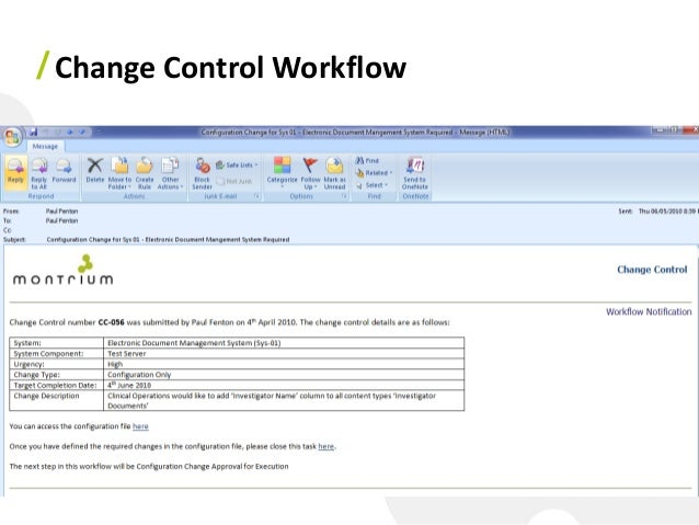 Change Control Workflow 33