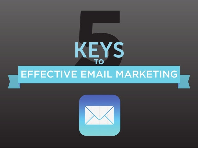5 KEYS TO  EFFECTIVE EMAIL MARKETING