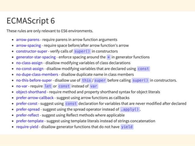 Array.prototype.includes(str, pos) [1, 2, 3].includes(2); // true [1, 2, 3].includes(4); // false [1, 2, NaN].includes(NaN...