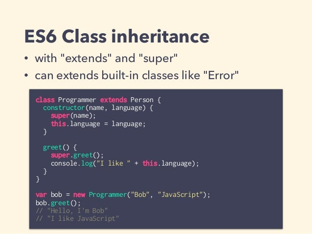 ES6 Modules • run anywhere (browsers, node.js…) if ES6 available • easy to parse statically • strict mode by default in mo...