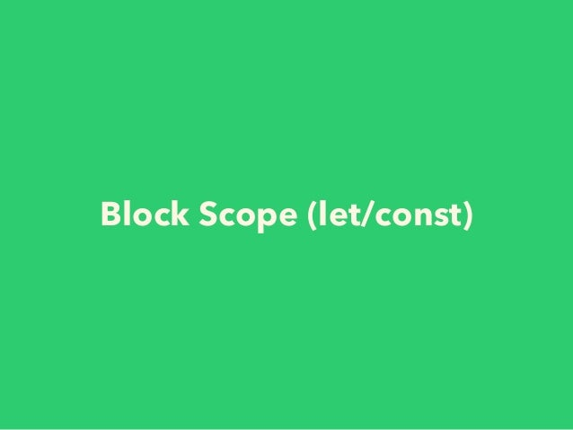 """Place """"var""""s at the top of the scope • for function scope and hoisting function init() { // `var` once at the top of the s..."""