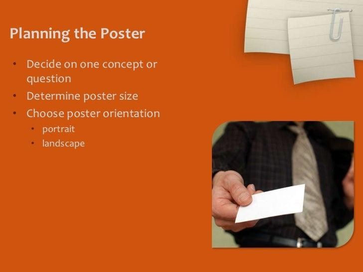Effective Poster Presentations