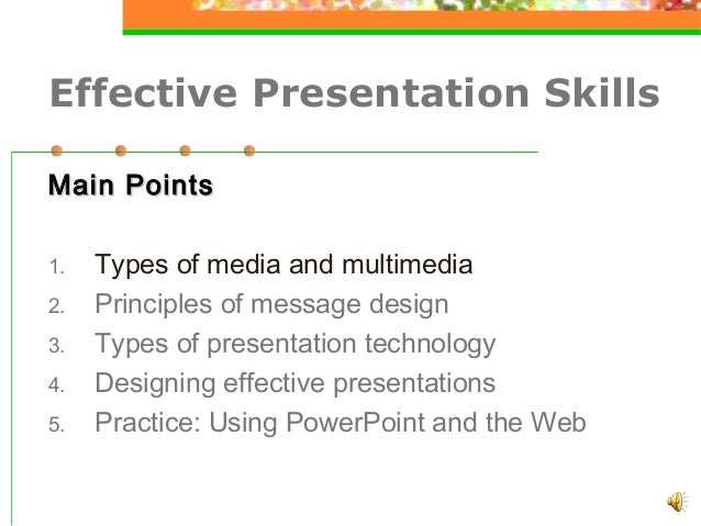 Effective Presentation SkillsNewPpt