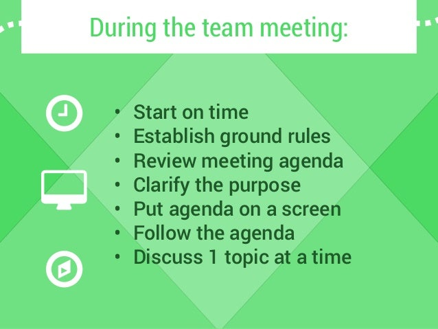 how to hold a team meeting