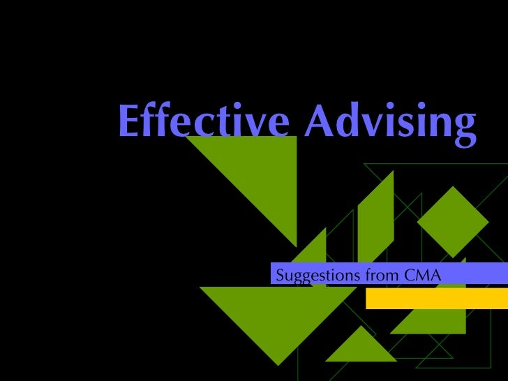 Effective Advising Suggestions from CMA