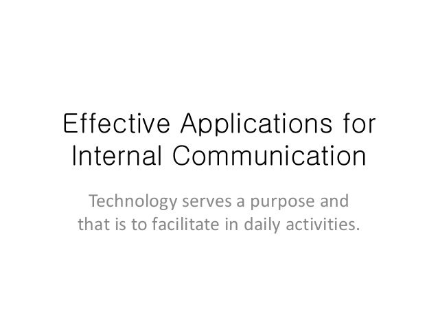 effective internal communication thesis Internal communication organisations are pointing to effective internal communication as the main focus of this thesis is on the internal communication.