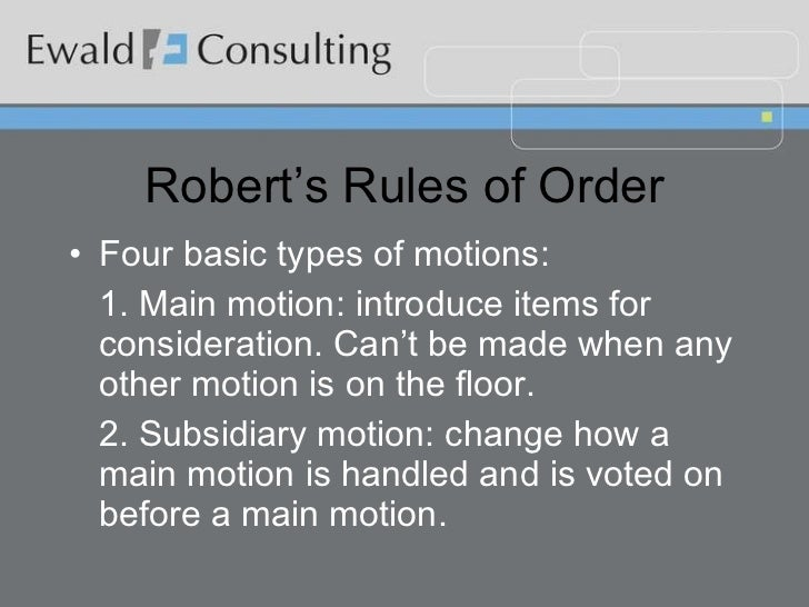 roberts rules of order committee meeting exclusion Learn the basic steps for making and voting on motions at board of directors or committee meetings  the basics of making motions  robert's rules and .