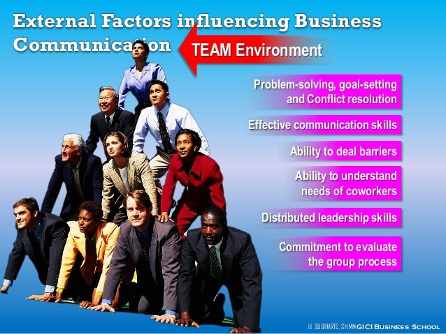 factors that affect effective communication in an organization Factors affecting organizational the communication climate barriers to organizational communication effective communication is needed for productivity.