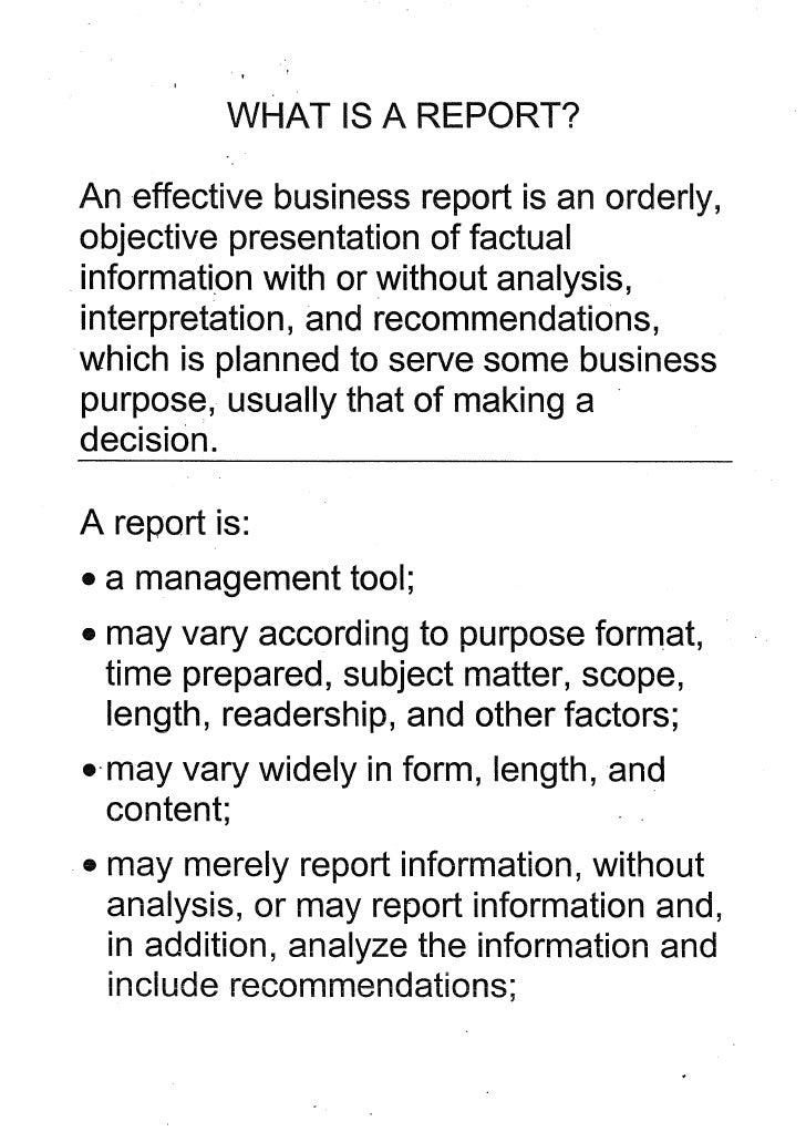 Effective Business Report