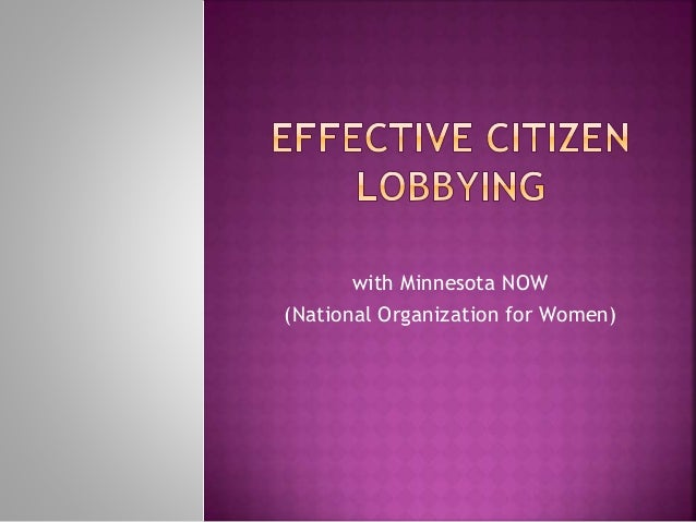 with Minnesota NOW (National Organization for Women)