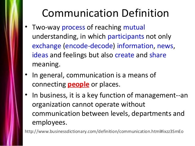definition of communication Communication - wordreference english dictionary, questions, discussion and forums all free.