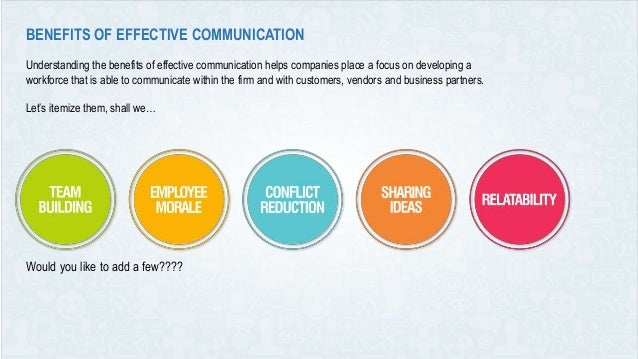 benefits of effective communication in the workplace pdf