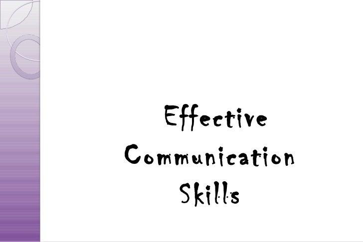 EffectiveCommunication   Skills