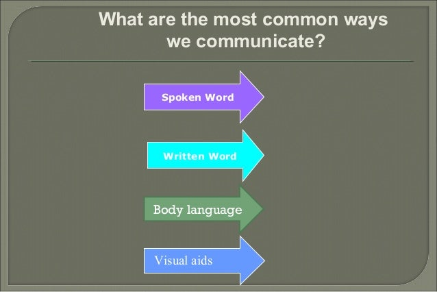 Effective communication skills hr 5 what are the most common ways we communicate sciox Choice Image