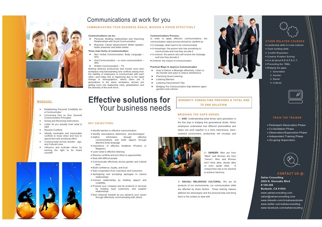 Effective Communication Course Brochure