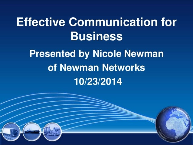 Effective communication for business