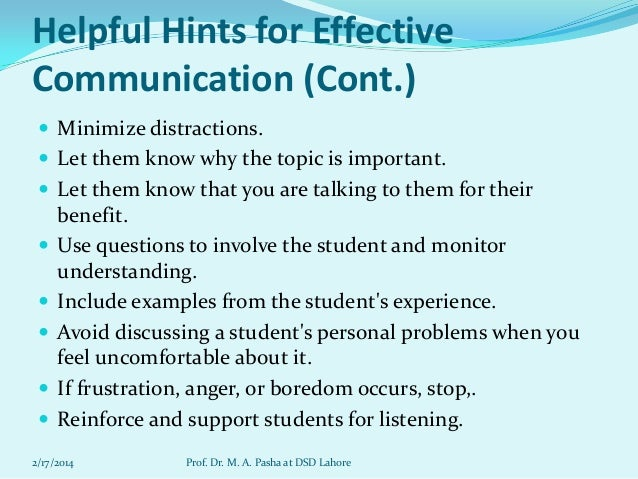 developing effective communication skills education essay Communication skills are essential for the successful future career of a  in  schools and colleges for the overall development of students.
