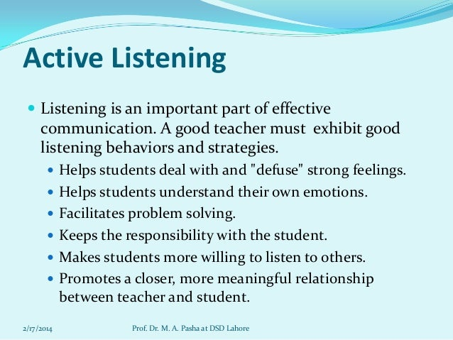 effective communication between teachers and students pdf