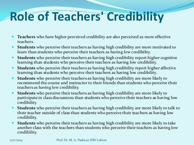 Image result for teaching credibility