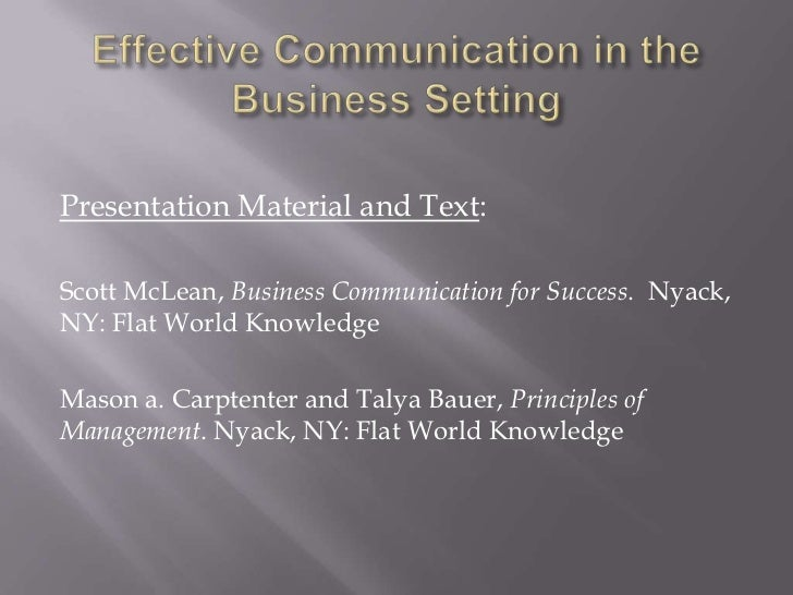 Professional Development Series: Effective Communication ...