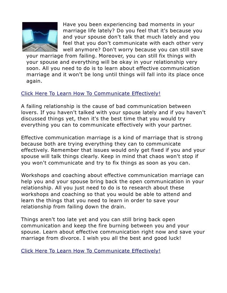 Ways to communicate effectively in a relationship