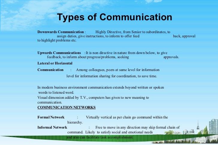 ... 5. Types Of CommunicationDownwards Communication ...
