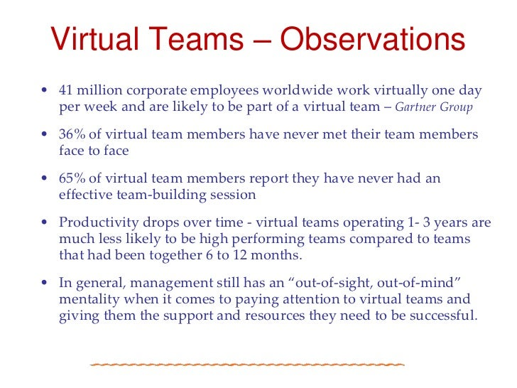 effective virtual teams report group Learn the benefits of virtual teams and how remote working  but training  supervisors to effectively manage and motivate across the digital  dispersed  across multiple geographic locations but reporting to a single manager.
