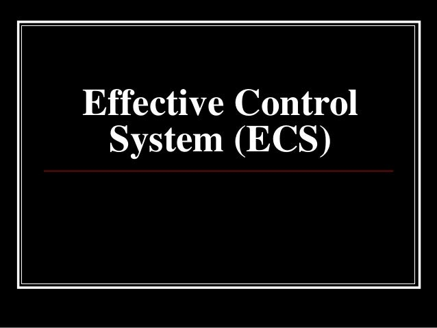 Effective Control System (ECS)