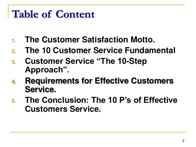 customer services and organisational effectiveness example Customer care policies: effectiveness print reference this this is not an example of the work written by our customer service is not just a competitive.