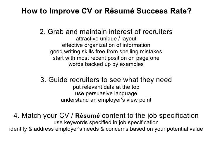 improve resume writing