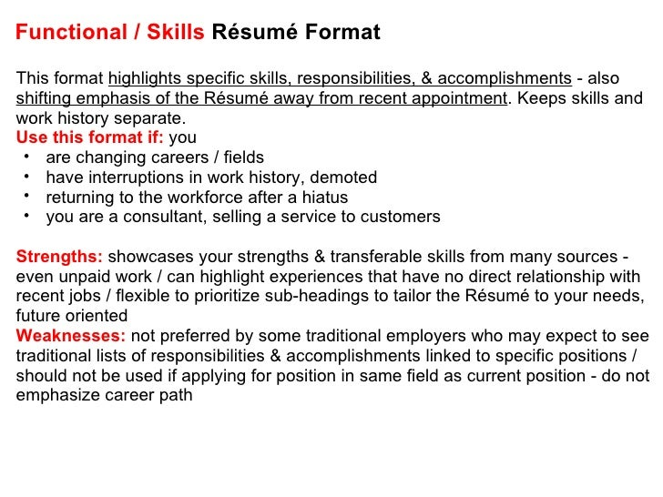 Awesome ... 17. Functional / Skills Résumé ...