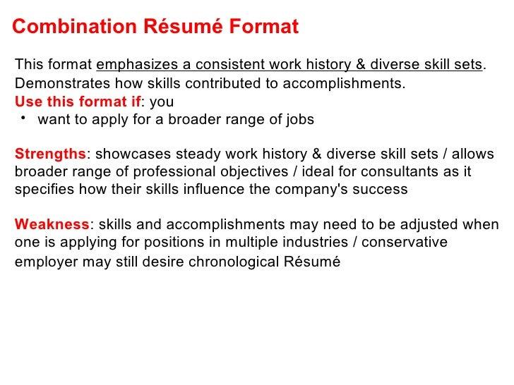 ... 18. Combination Résumé Format ...