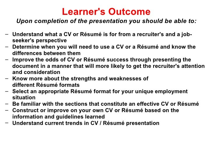 effective cv resume writing