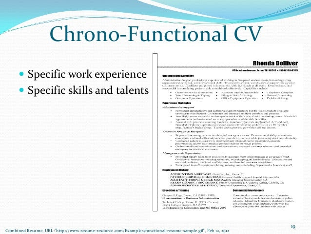 ... Achievements18; 19. Chrono Functional CV ...