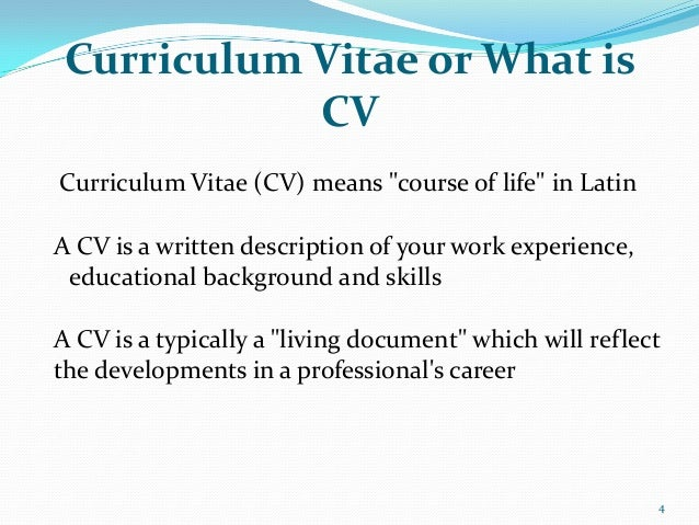 what is cv