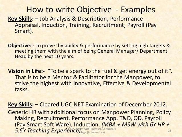sample key skills for resume