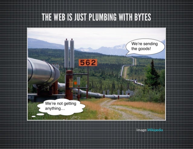 THE WEB IS JUST PLUMBING WITH BYTES Image:Wikipedia