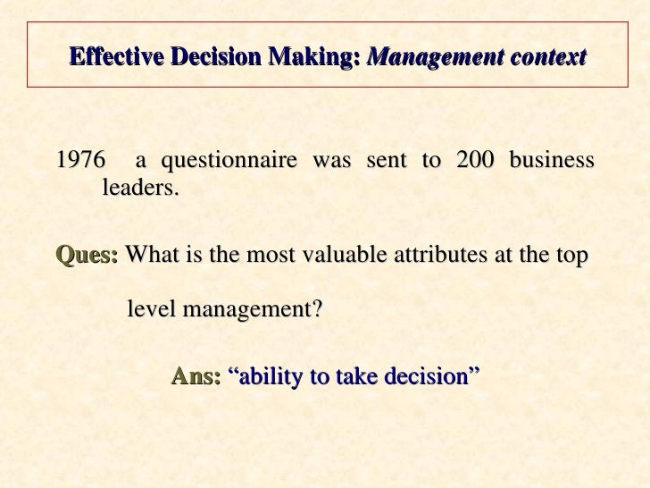 effective decision making How to effectively build buy-in for strategic decision making frameworks and key learnings.