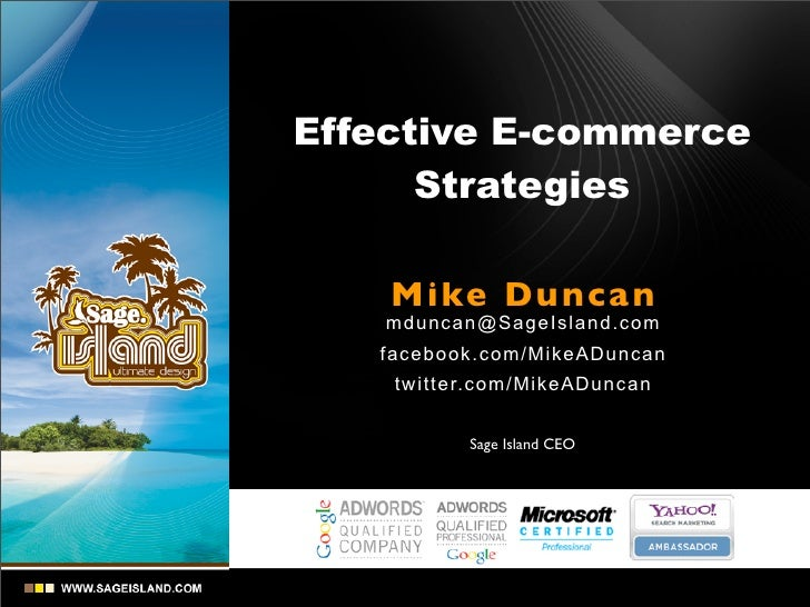 Effective E-Commerce Strategies