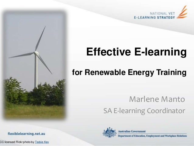 Effective E-learning                                         for Renewable Energy Training                                ...