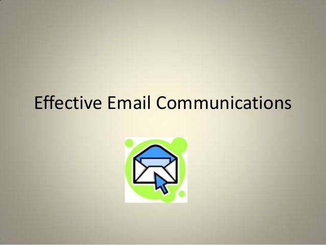 Effective Email Communications