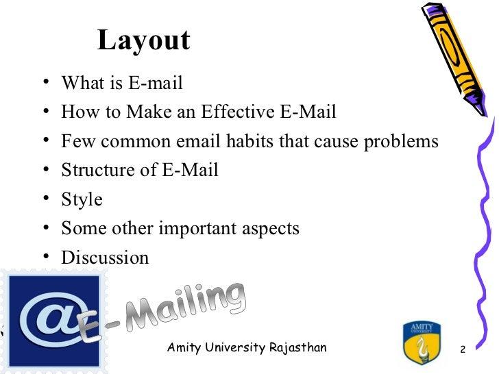 Effective emailing ppt layout altavistaventures Image collections