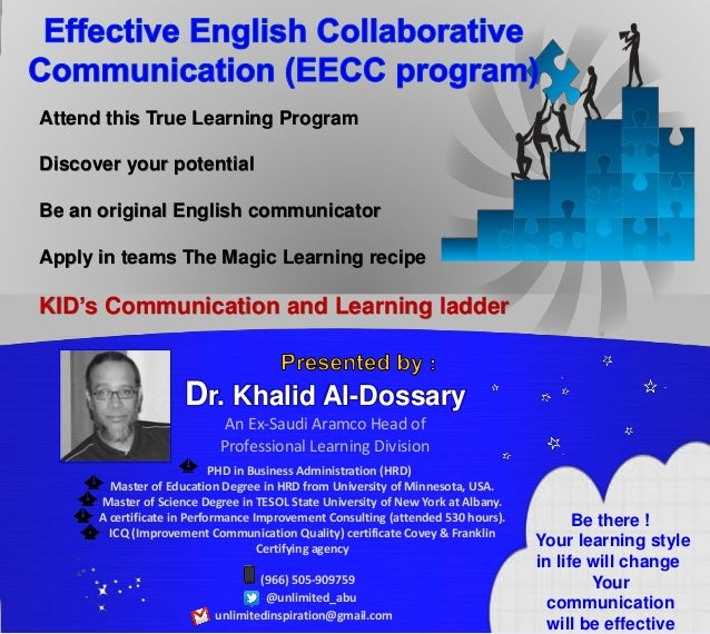 Attend this True Learning Program Discover your potential Be an original English communicator Apply in teams The Magic Lea...