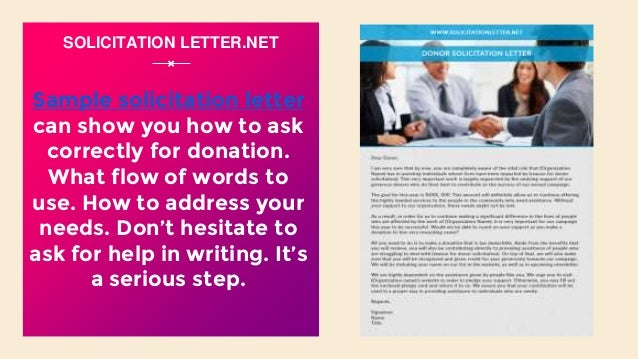Effective examples of solicitation letter sample solicitation letter spiritdancerdesigns Gallery