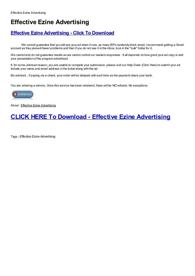 Effective Ezine AdvertisingEffective Ezine AdvertisingEffective Ezine Advertising - Click To DownloadFree, Buy, Full Versi...