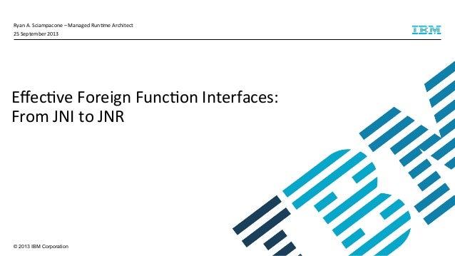 © 2013 IBM Corporation Ryan  A.  Sciampacone  –  Managed  Run4me  Architect   25  September  2013   Eff...