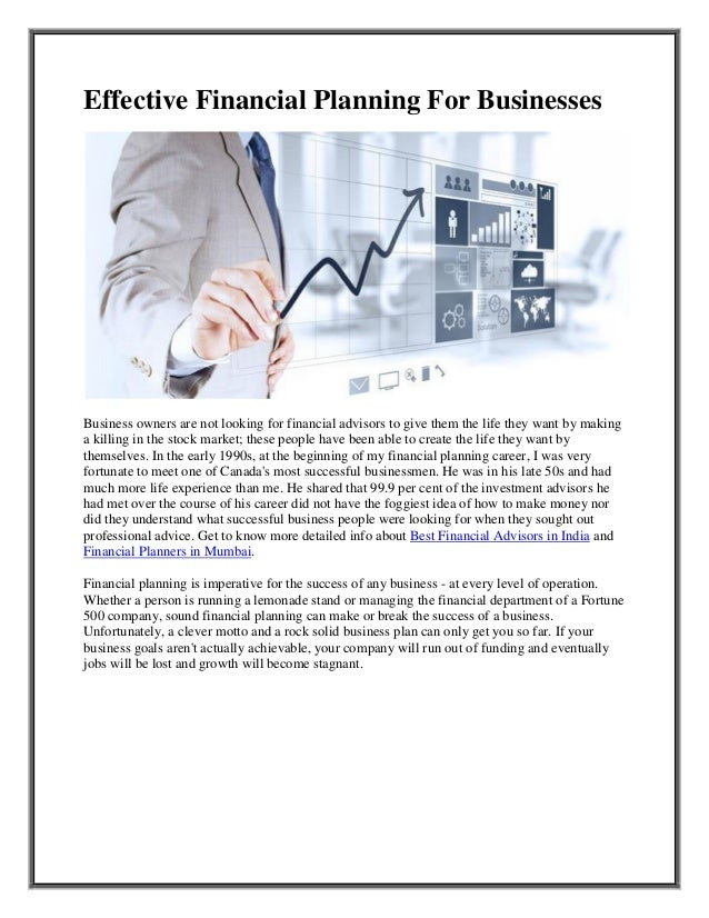 Purchase a financial planning business