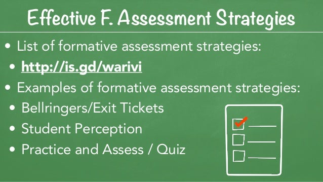 Effective Formative Assessment Practices